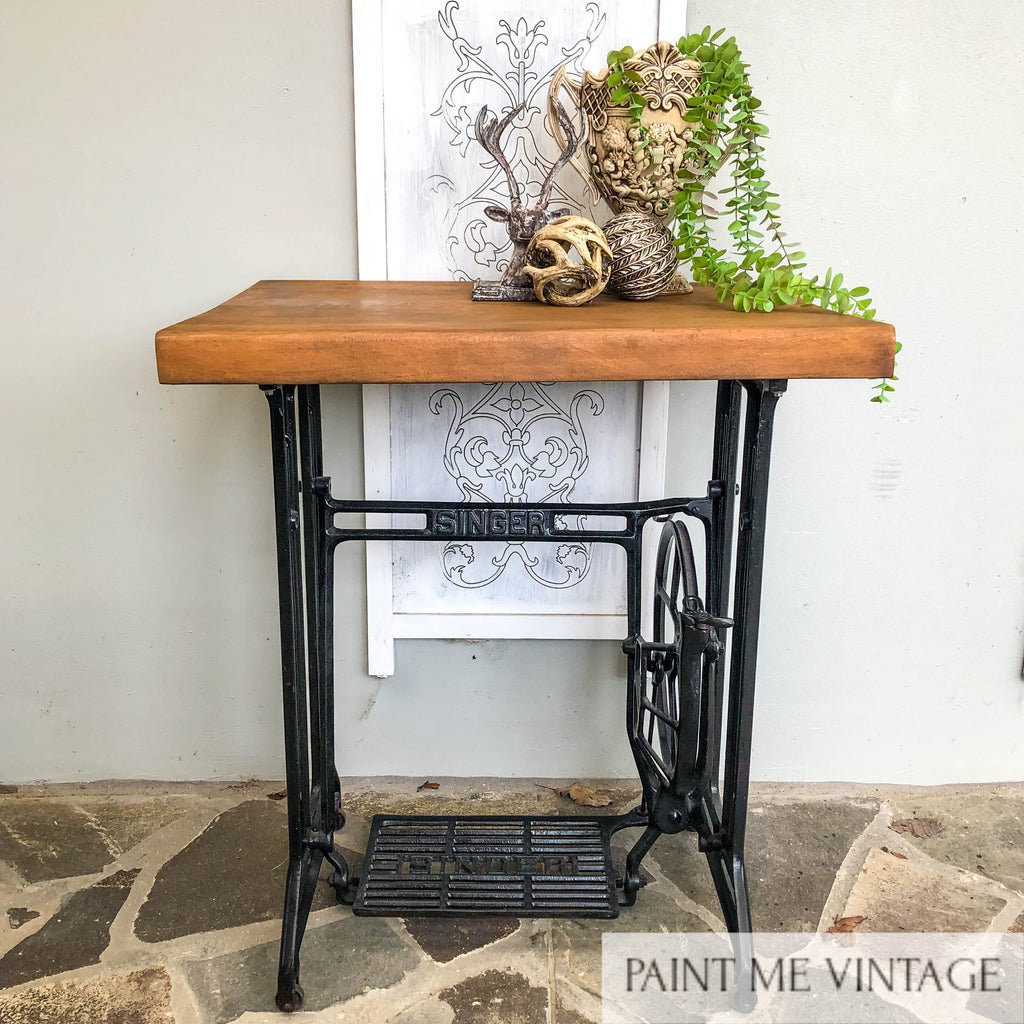 Singer Sewing Machine Timber topped Occasional Table - not available
