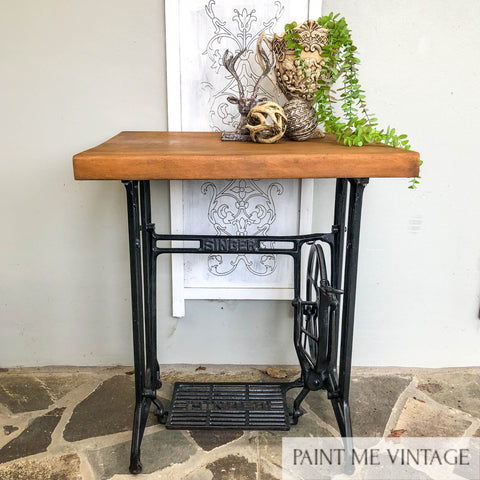 Singer Sewing Machine Timber topped Occasional Table - available contact us