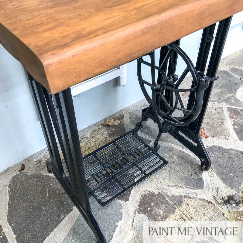 Singer Sewing Machine Timber topped Occasional Table NZ