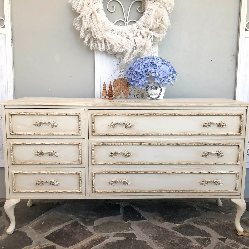 Yorkshire Stone Antique look Cabriolet leg dresser - available contact us