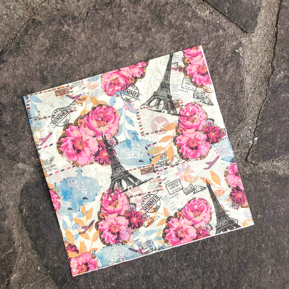 Napkin for Decoupage Paris and the Eiffel Tower NZ