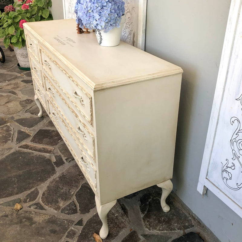 Yorkshire Stone Antique look Cabriolet leg dresser NZ