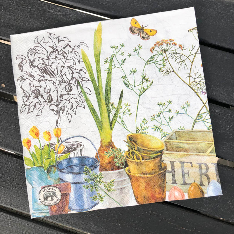 Country Life Napkin for Decoupage