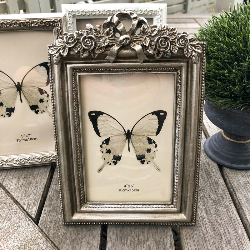 Bow & Scroll Champagne Picture Frame