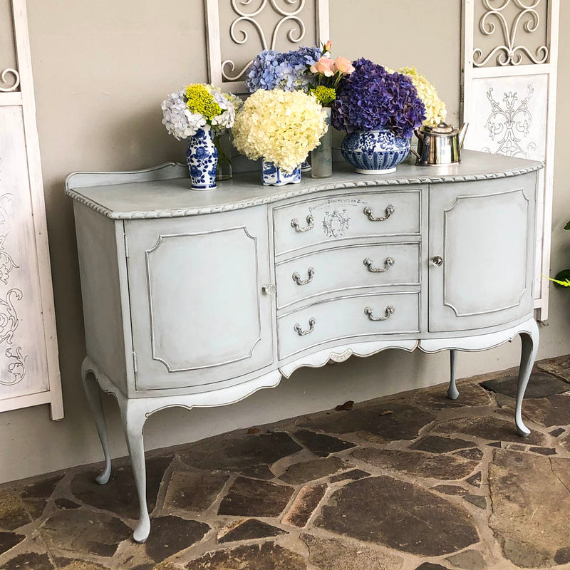 Aurora Bow Fronted and Carved Sideboard - not available