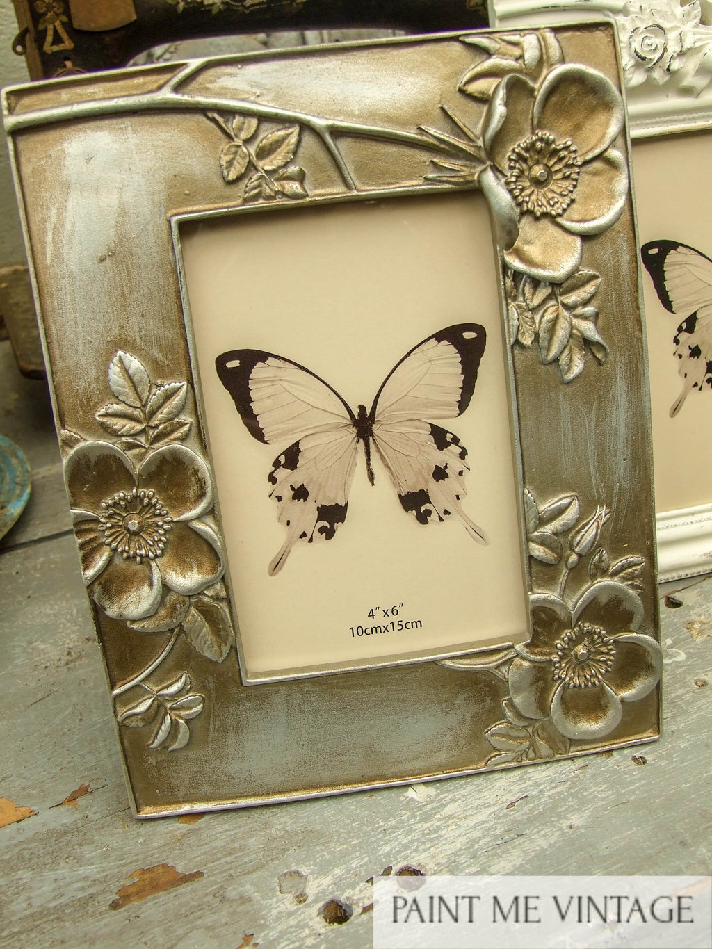 Floral Champagne Picture Frame