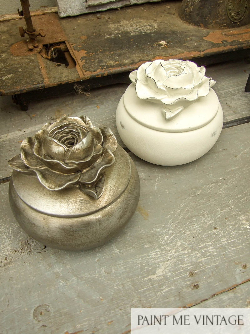 Rose top box Antique Champagne NZ