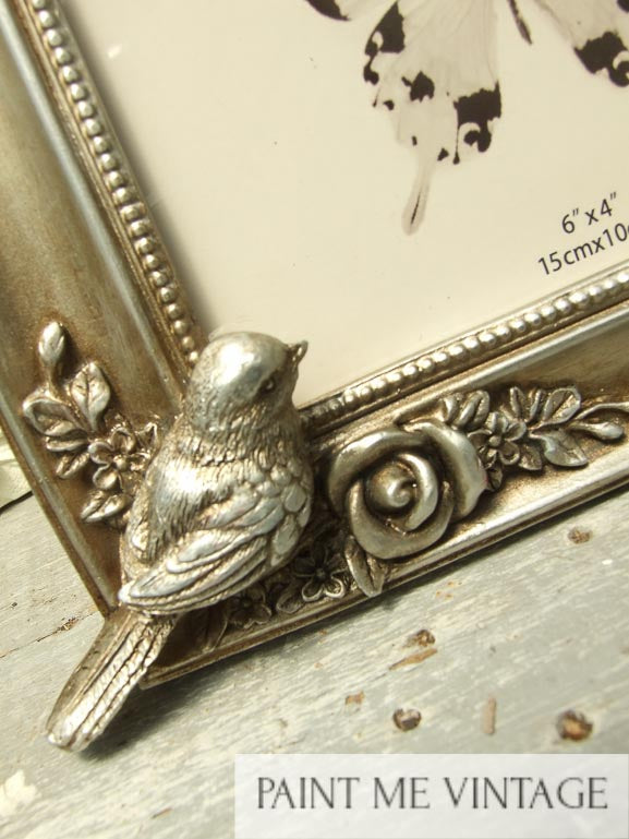 Picture Frame Champagne Metallic with Doves | Paint Me Vintage | Tauranga, New Zealand | chalk paint | chalkpaint | furniture painting | vintage paint | stencils | IOD | Iron Orchid Design | décor | furniture transfers | workshops | shabby chic bedroom | shabby chic furniture near me | shabby chic furniture ideas | shabby chic furniture stores | shabby chic living room furniture | photo frame | Picture Frame Champagne Metallic with Doves