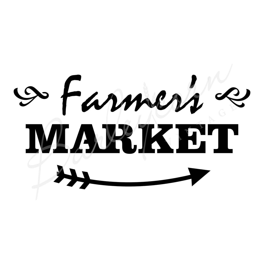 Farmers Market Stencil - Large | Paint Me Vintage | Tauranga, New Zealand | chalk paint | chalkpaint | furniture painting | vintage paint | stencils | IOD | Iron Orchid Design | furniture transfers | workshops | where to buy stencils | stencils for sale nz | plastic stencils nz | craft stencils nz | Farmers Market Stencil - Large