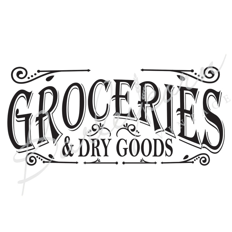 Groceries & Dry Goods XL Stencil