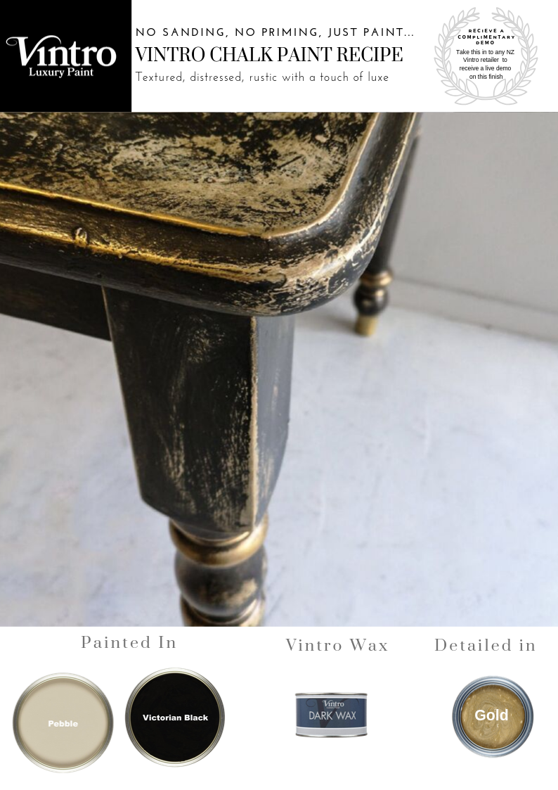 How to Create Textured Rustic Glam Black Chalk Paint Recipe