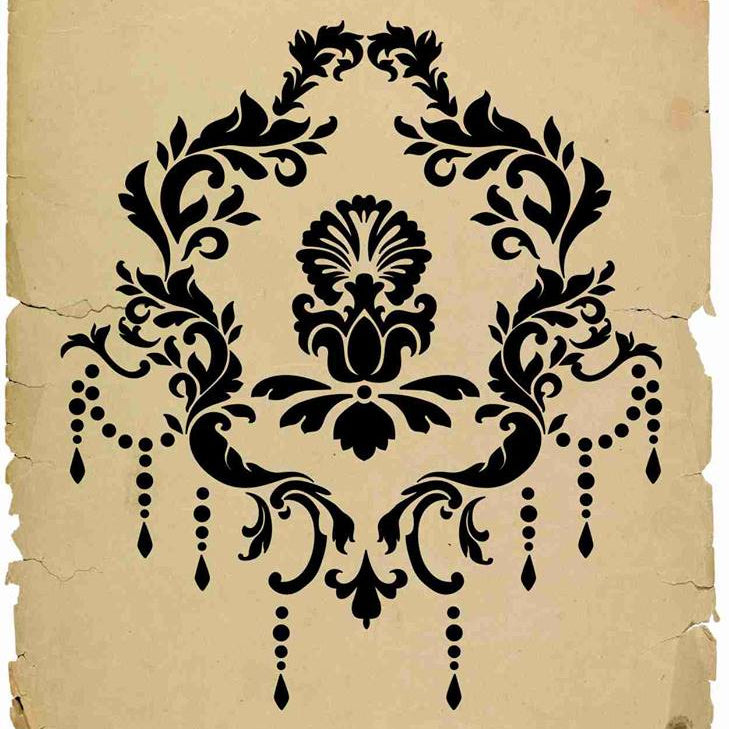 Versailles Damask Stencil 2 sizes | Paint Me Vintage |  Tauranga, New Zealand | chalk paint | furniture painting | vintage paint | stencils | IOD | Iron Orchid Design | furniture transfers | workshops