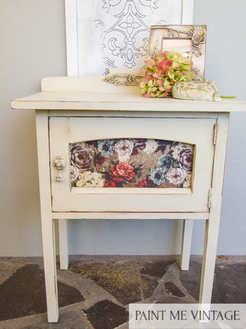 Yorkshire Stone Rustic Cabinet with Tea Rose Garden transfer - available