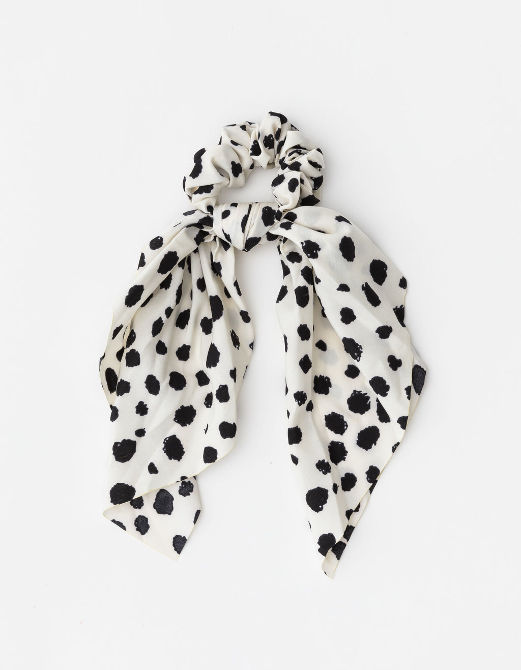 Hair tie Scrunchie Scarf Black & White Dots Stella + Gemma