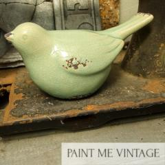 Ceramic Bird Seafoam - Large | Paint Me Vintage | Tauranga, New Zealand | chalk paint | chalkpaint | furniture painting | vintage paint | stencils | IOD | Iron Orchid Design | furniture transfers | workshops | decorative bird | ceramic bird | shabby chic bedroom | shabby chic furniture near me | shabby chic furniture ideas | shabby chic furniture stores | shabby chic living room furniture | Ceramic Bird Seafoam - Large
