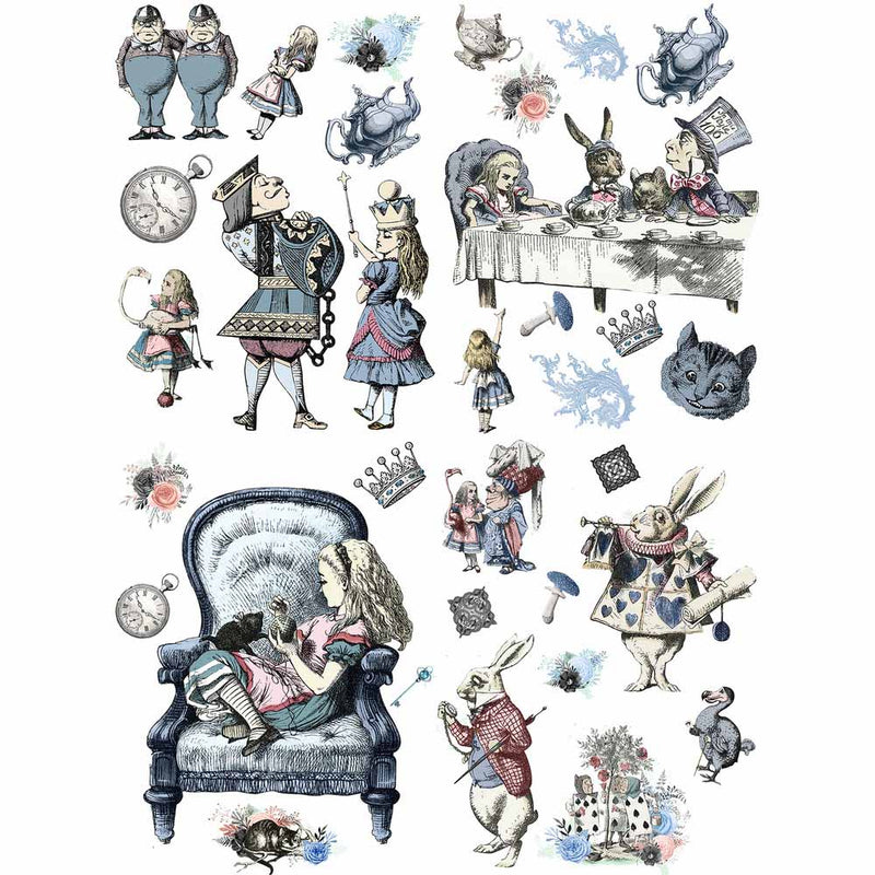 Dixie Belle Alice in Wonderland Furniture Transfer by Belles & Whistles