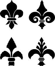 Fleur de lis Collection Small Stencil