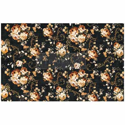 Mulberry Tissue Paper for Decoupage 2 Sheets Dark Floral NZ