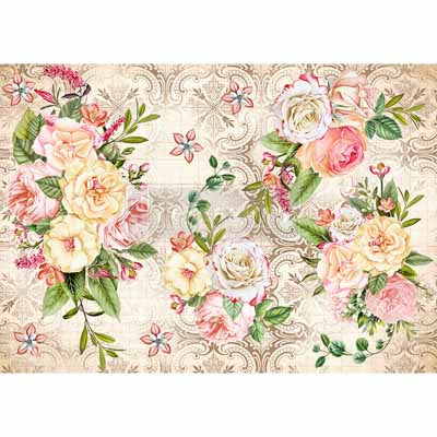 Amiable Rose Rice Paper for Decoupage A3