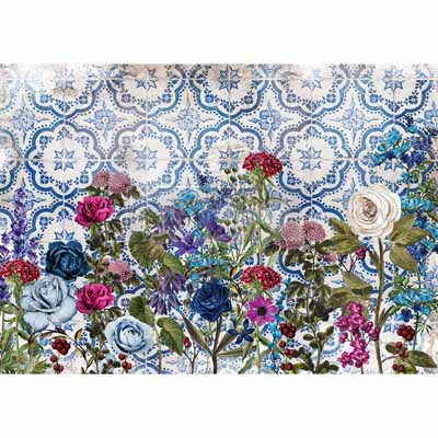 Moonlight Garden Rice Paper for Decoupage A3