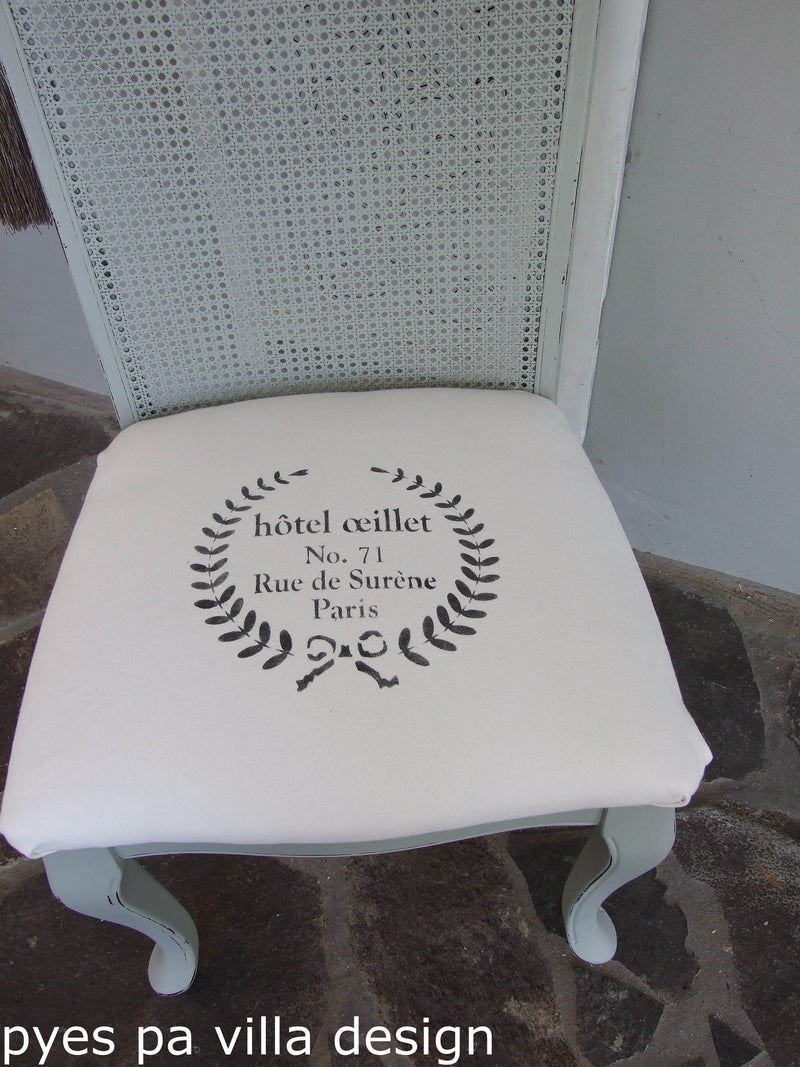 Hotel Oeillet Wreath Stencil | Paint Me Vintage | Tauranga, New Zealand | chalk paint | chalkpaint | furniture painting | vintage paint | stencils | IOD | Iron Orchid Design | furniture transfers | workshops | where to buy stencils | stencils for sale nz | plastic stencils nz | craft stencils nz | Hotel Oeillet Wreath Stencil