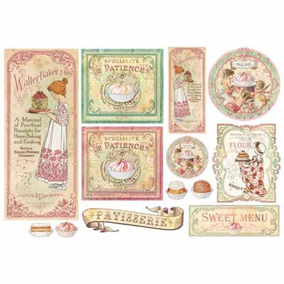 Patisserie Rice Paper for Decoupage Large