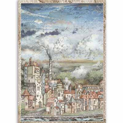 Cityscape Sir Vagabond Rice Paper for Decoupage A4