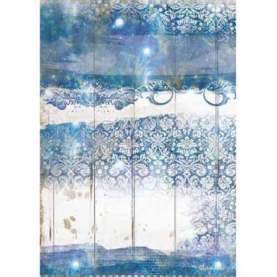 Dream Blue Texture Rice Paper for Decoupage A4
