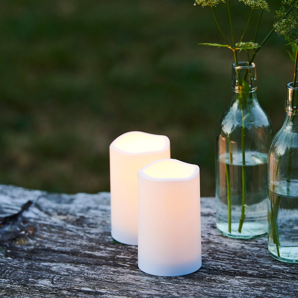 LED Candles Indoor / Outdoor mini set of two