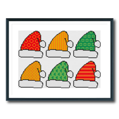 Colourful Santa Hats
