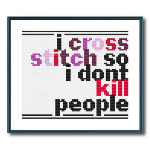 Cross Stitch Warning