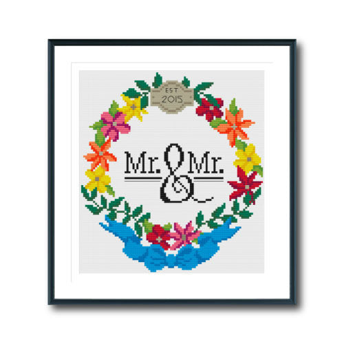Mr & Mr Wreath
