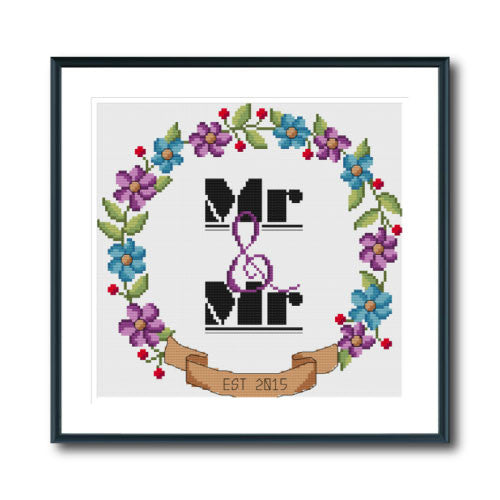 Mr & Mr Wedding Wreath