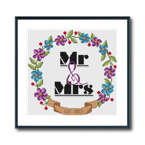 Mr & Mrs Wedding Wreath