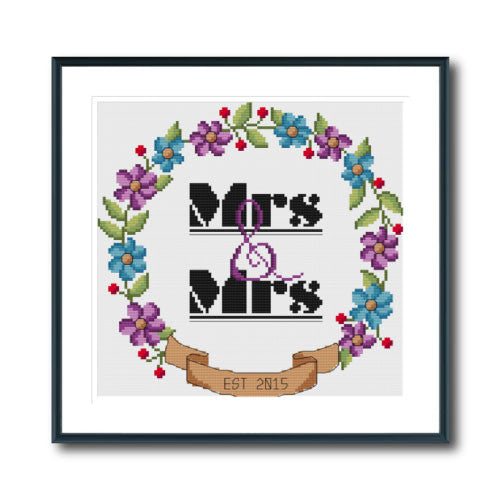 Mrs & Mrs Wedding Wreath