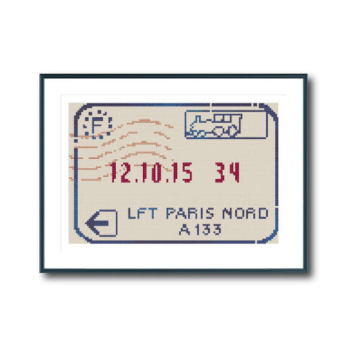 Passport Stamp (Paris)