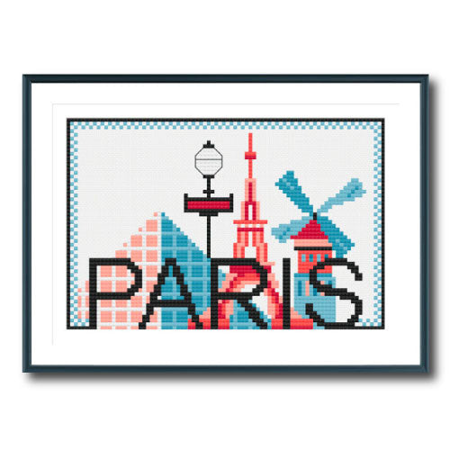 Retro Paris City
