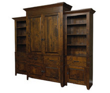 Load image into Gallery viewer, Alder Bar And Storage Cabinet| Solid Wood Entertainment Unit/Built-Ins