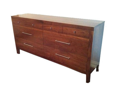 Avenue Dresser | Walnut Four Drawer Contemporary Bedroom Dresser