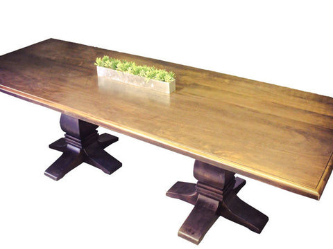 Avenue Trestle Table | Formal Rectangular Contemporary Trestle Table