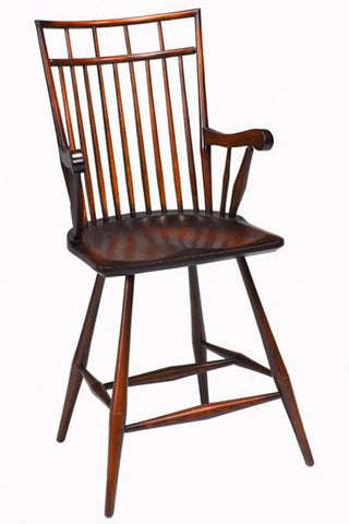 Birdcage Arm Bar Chair | Contemporary Wooden Windsor Bar Arm Chair