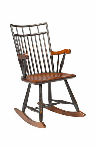 Birdcage Rocker | Modern Farmhouse Wood Birdcage Rocking Chair