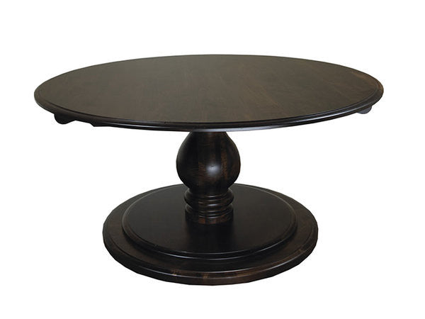 Belfour Pedestal Table | Circular Solid Wood Formal Dining Table