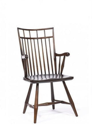 Contemporary Birdcage Arm Chair | Solid Wood Windsor Chair