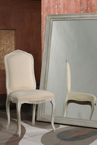 Carved Upholstered Side Chair | Carved Wooden Upholstered Dining Chair