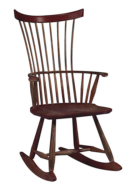 Comb Back Rocker | Solid Wood Contemporary Fan Back Rocking Chair