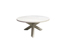 Load image into Gallery viewer, Trifecta Table | Circular Contemporary Tripod Solid Wood Dining Table