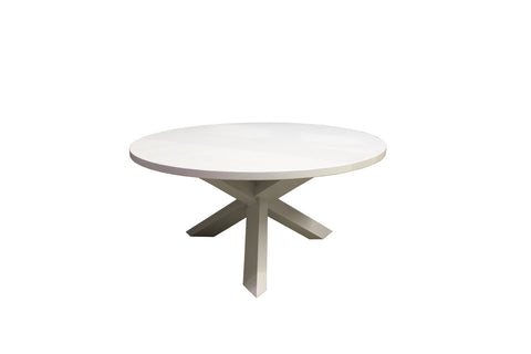 Trifecta Table | Circular Contemporary Tripod Solid Wood Dining Table