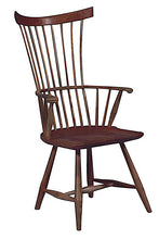 Load image into Gallery viewer, Comb Back Arm Chair | Contemporary Solid Wood Comb Back Windsor Chair