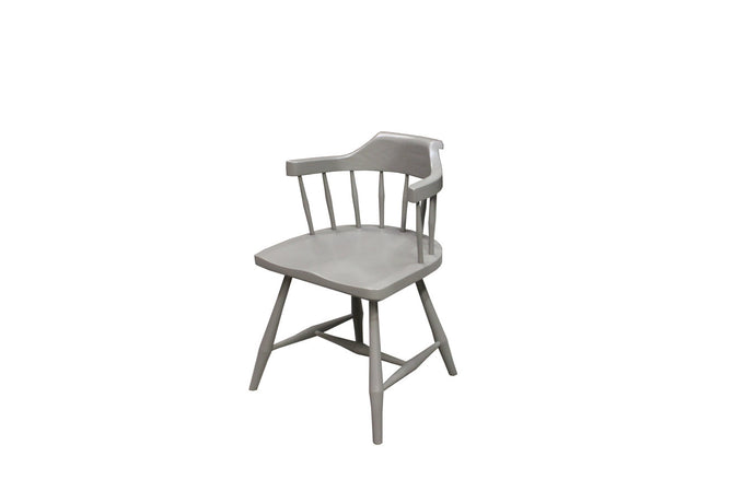 Low Back Contemporary Windsor Chair | Modern Low Grey Dining Chair